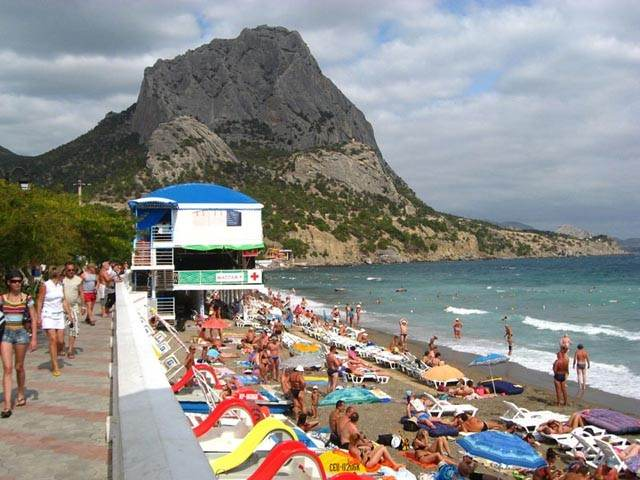 Набережная Нового Света и пляж