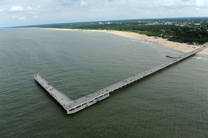 Мост Паланги с высоты птичьего полёта