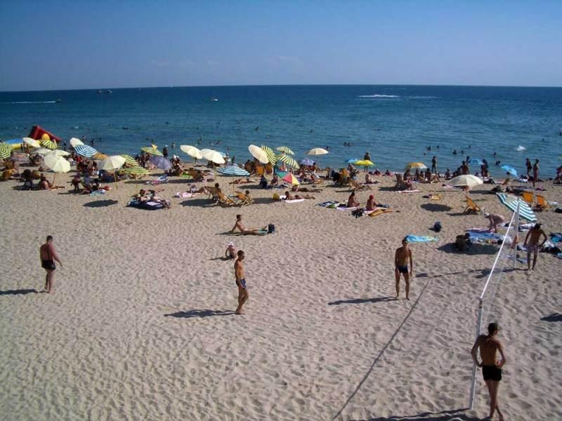 Пляж города