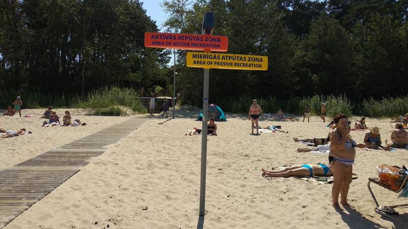 Активные и пассивные зоны отдыха на пляжах Юрмалы