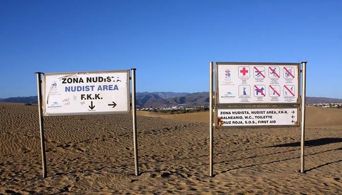 Указатели нудистского пляжа