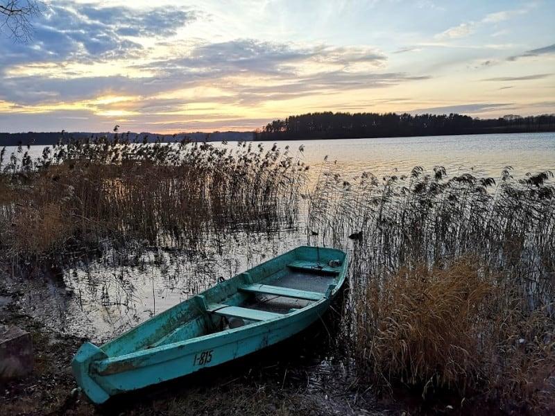Вечерний пейзаж озера Зарасай