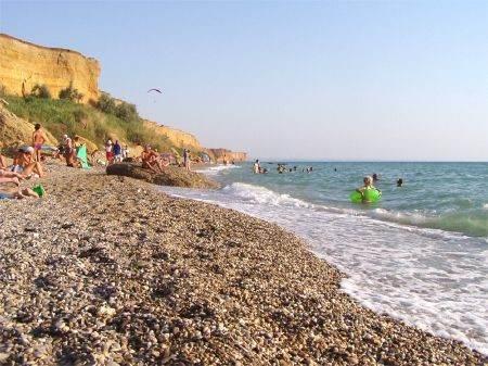 Пляж в селе Кача