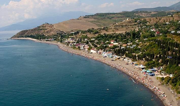 Панорамное фото посёлка Солнечногоское