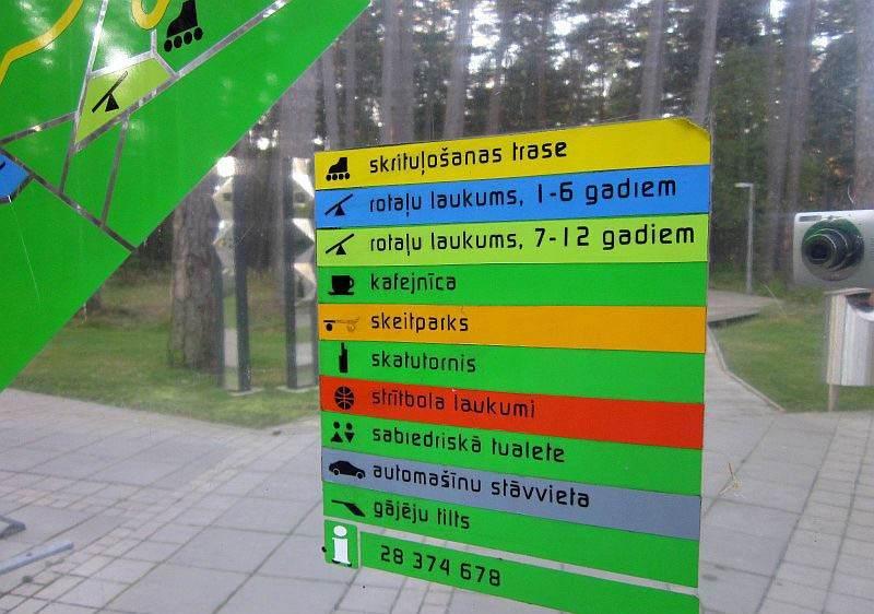 Указатели и карта парка
