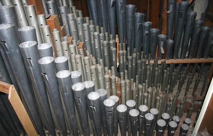 Трубы органа в Домском соборе