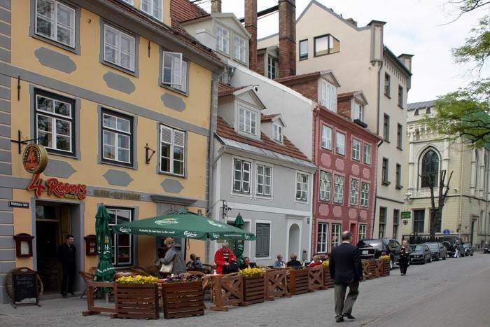 Уличные ресторанчики Риги