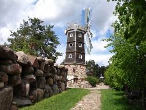 Мельница на территории парка