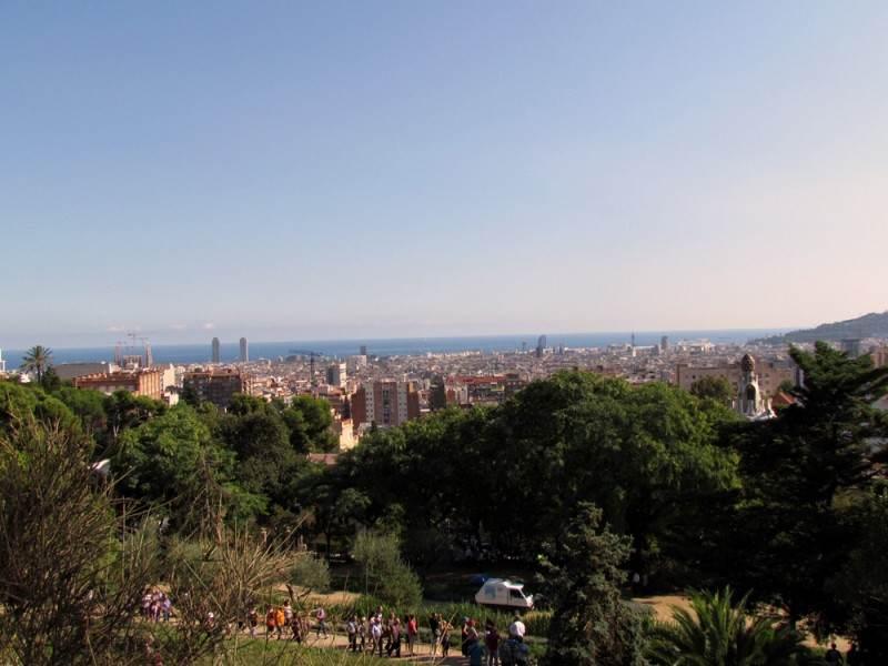 Вид на город с парка Гуэля