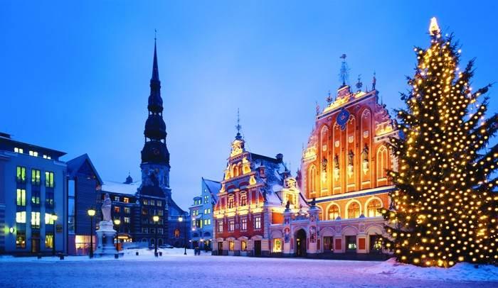 Старый город Риги в преддверии Нового года