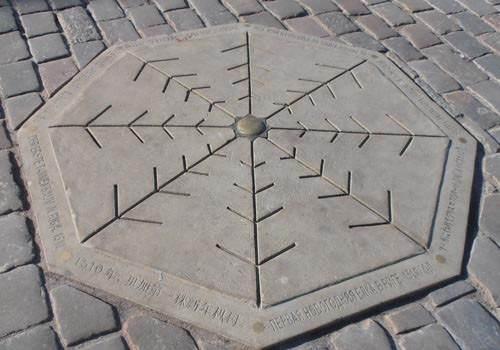Место, где стояла первая ёлка на ратушной площади