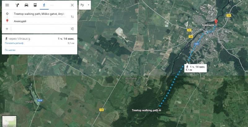 Пеший маршрут до тропы и обзорной башни