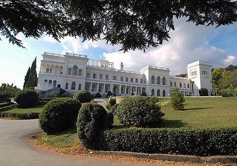 Ливадийский дворец осенью