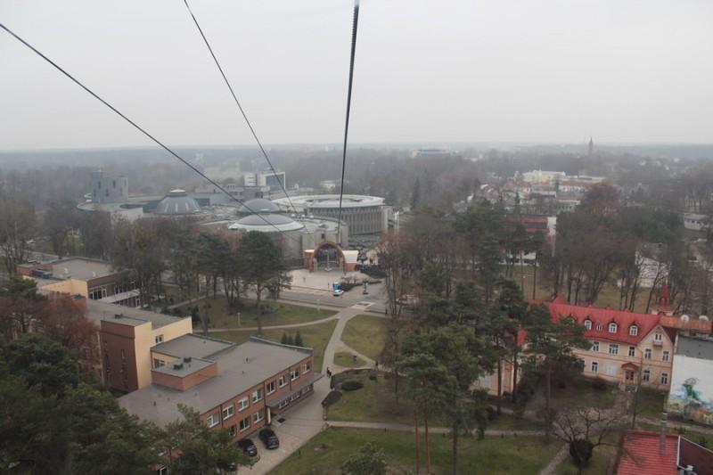 Трасса канатной дороги в Друскининкай