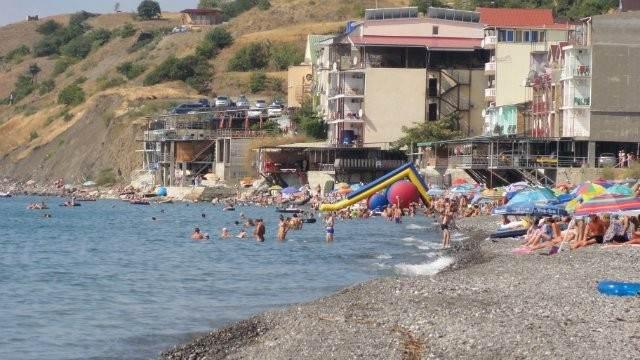 Развлечения на пляже в Приветном