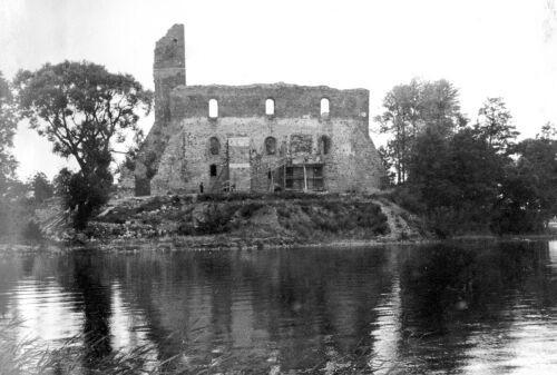 Так выглядел Тракайский замок в 1939 году