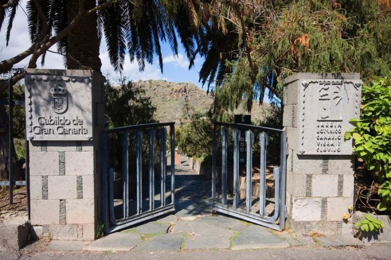 Вход в ботанический парк Jardín Botánico Canario Viera y Clavijo