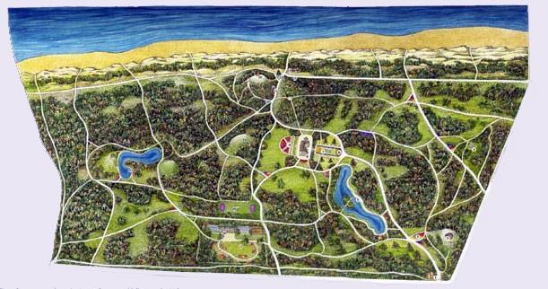 Карта ботанического парка в Паланге