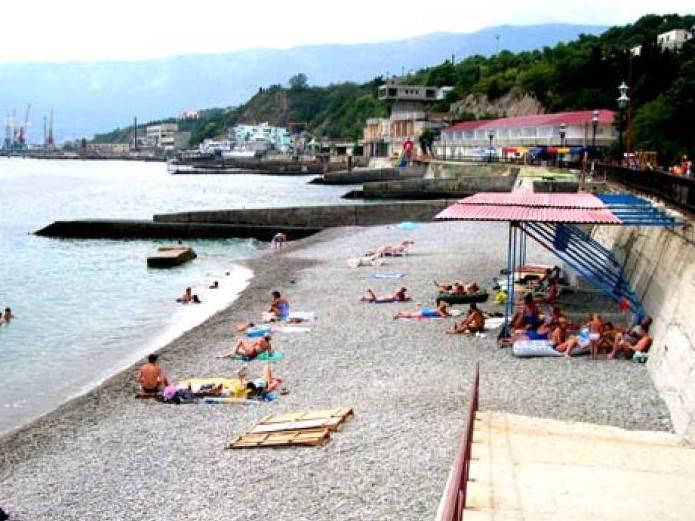 Пляжи в  селе Отрадное