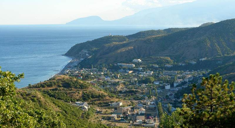 Вид на город с гор