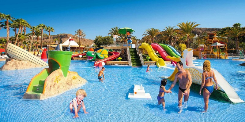 Детская развлекательная зона в аквапарке Aqualand Maspalomas