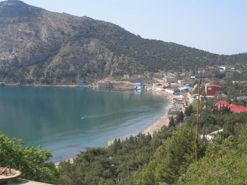 Вид на посёлок с гор