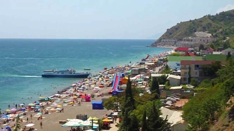 Пляж в посёлке