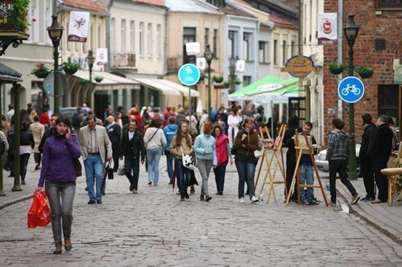 Прогуливаясь по Вильнюсской улице в Каунасе