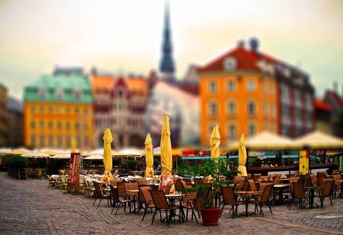 Уличный ресторанчик в центре Риги