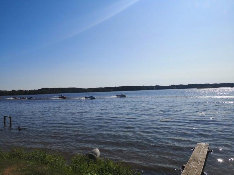 Соревнования водных мотоциклов в Зарасае