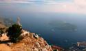 Дубровник. Вид с горы на остров Локрум