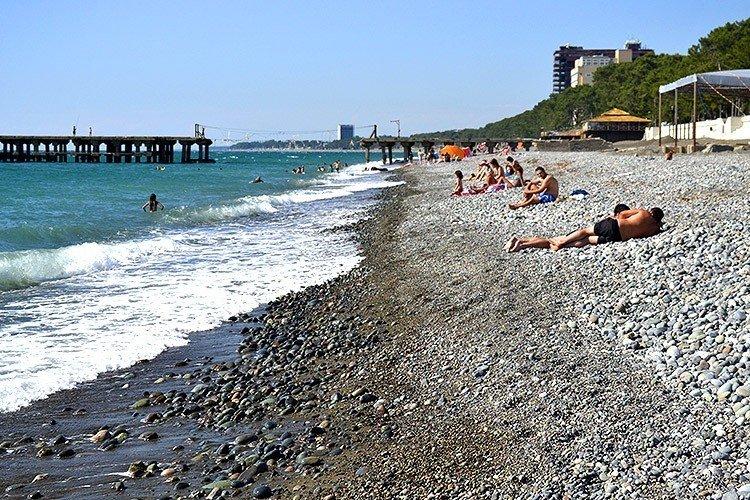 Галечный пляж Кобулети