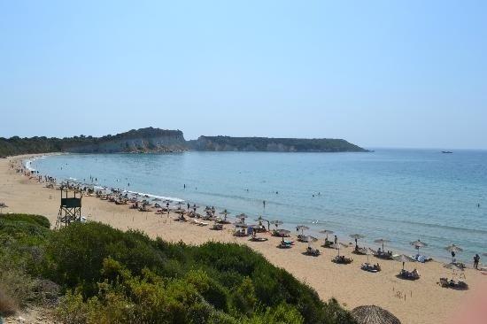 Пляж отеля Посейдон Бич в Василикосе