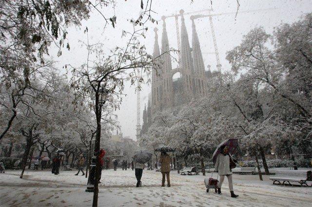 Испания в  январе
