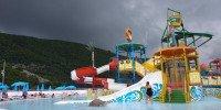 Аквапарк Будвы перед началом шторма (начало июля)
