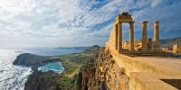 Акрополис на Родосе на закате