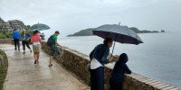 Набережная Будвы в дождь