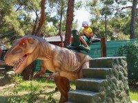 Катание на динозавре