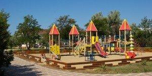 Детская площадка в санатории