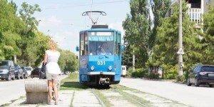 Голубой Трамвайчик в Евпатории