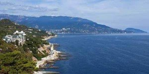 Вид на Курпаты и Черное море