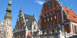 Архитектурные здания в центре старой Риги