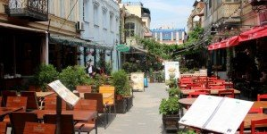 Современные улочки в старом городе