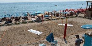 Сутоморе волейбольная площадка на пляже