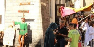 Атмосферные работники старого города :)