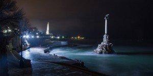 Зима к памятника затонувшим кораблям