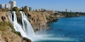 Водопад в Дюденском парке
