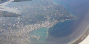Василикос с высоты самолета