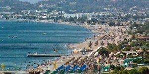Пляж Фалираки с высоты птичего полета