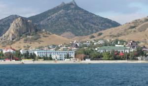 Вид с моря на Курортное